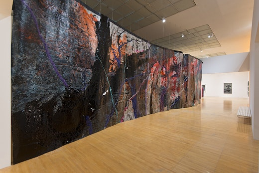 This is an artwork titled Representation of a Landscape as a Wall by artist Rodney McMillian made in 2012