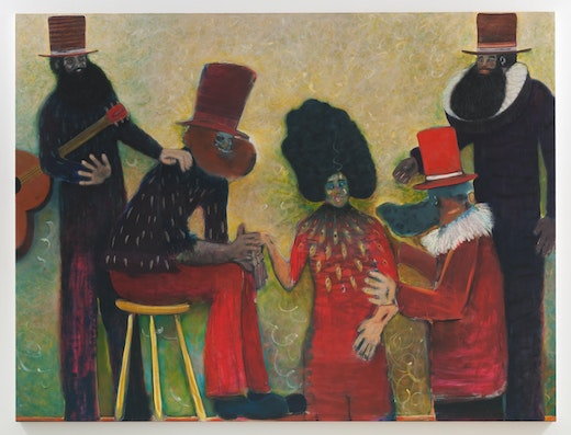 This is an artwork titled Fainting Society by artist Ryan Mosley made in 2014