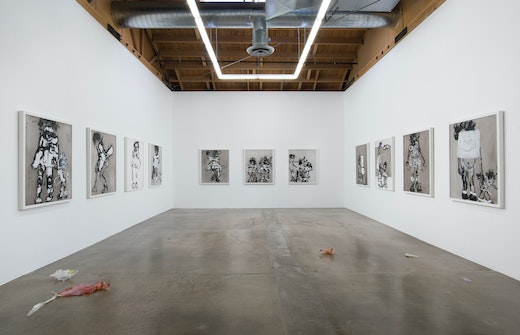 """""""PAINTING BLINDFOLDED"""" Installation View"""
