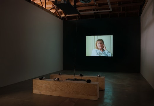 This is an artwork titled Kathy, Installation view by artist Stanya Kahn made in 2010