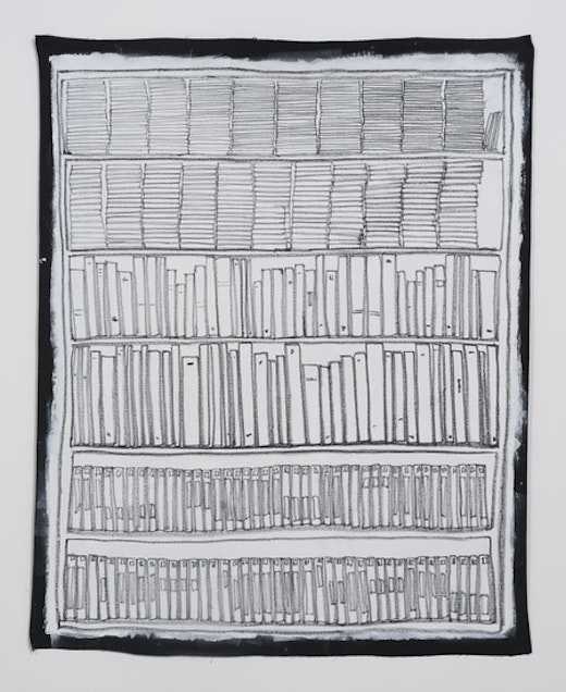 This is an artwork titled Bookshelf II by artist Stanya Kahn made in 2014