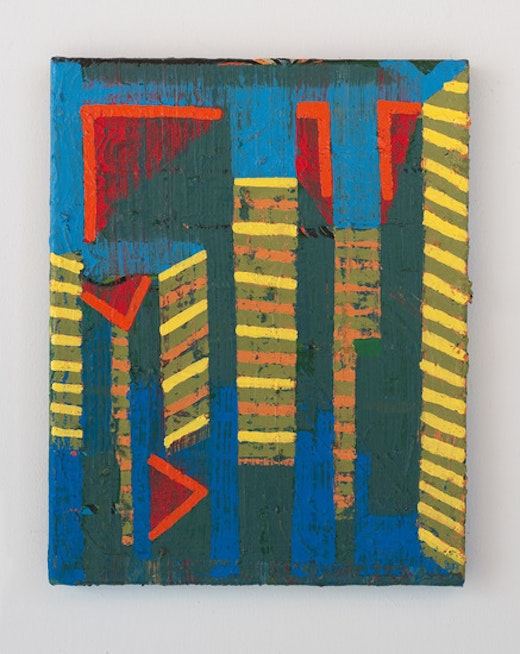 This is an artwork titled ninth view by artist Steve Roden made in 2013