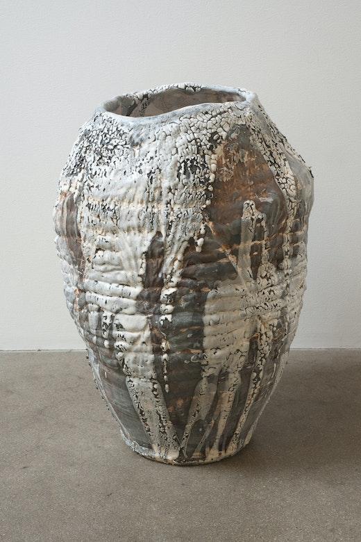 This is an artwork titled Slogan Vase III by artist Tam Van Tran made in 2012
