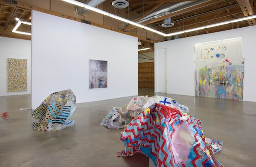"""""""UNCRUSHED (blue chair)"""" Installation view"""