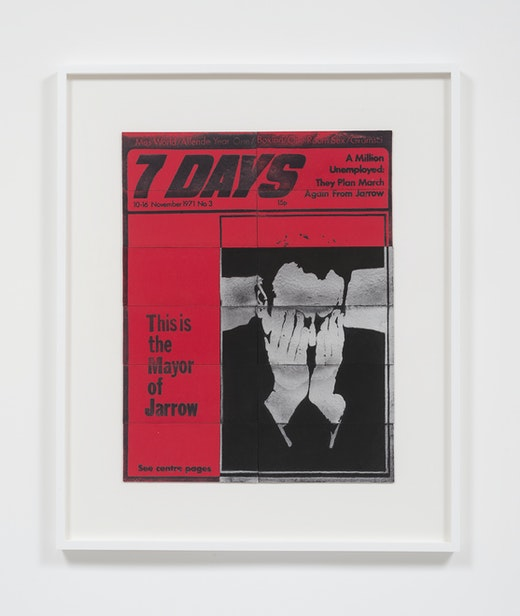 This is an artwork titled 7 Days, 10-16 November, 1971 by artist Mary Kelly made in 2016