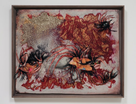 This is an artwork titled Women smell like sea by artist Wangechi Mutu made in 2012