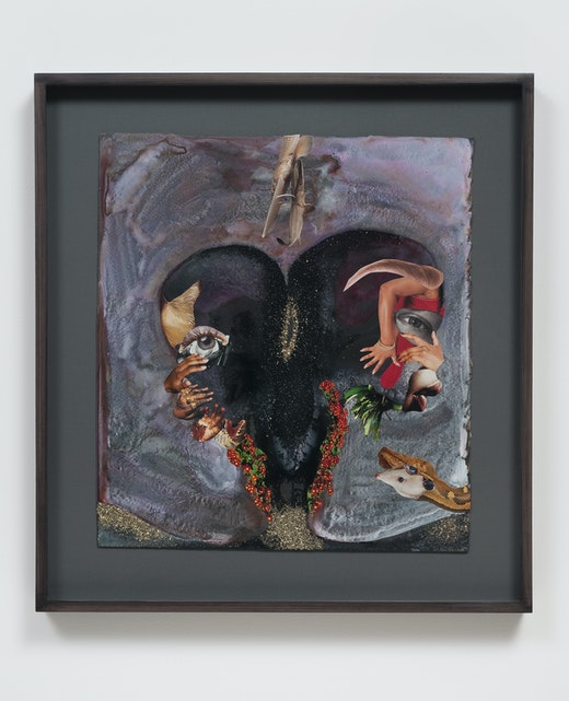 This is an artwork titled Double hand shake by artist Wangechi Mutu made in 2012