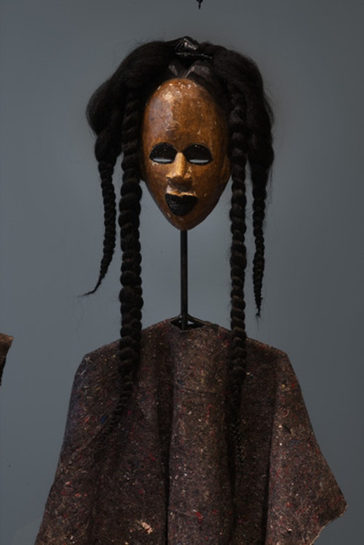 This is an artwork titled Kibaba blackeye by artist Wangechi Mutu made in 2012