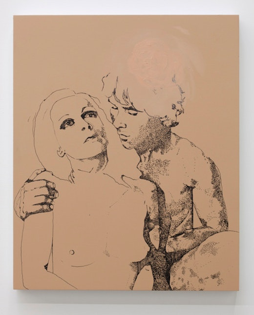 This is an artwork titled Lovers (For April) by artist Whitney Bedford made in 2011