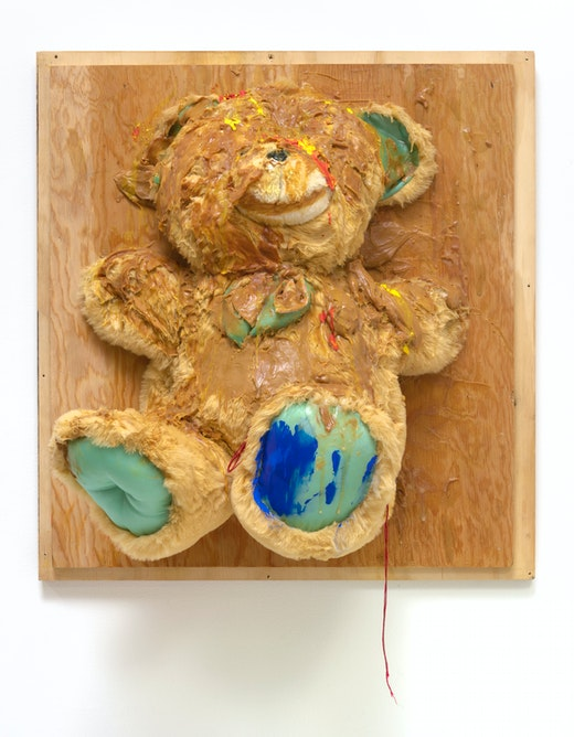 This is an artwork titled Trophy (Big Bear) by artist Pope.L made in 2007