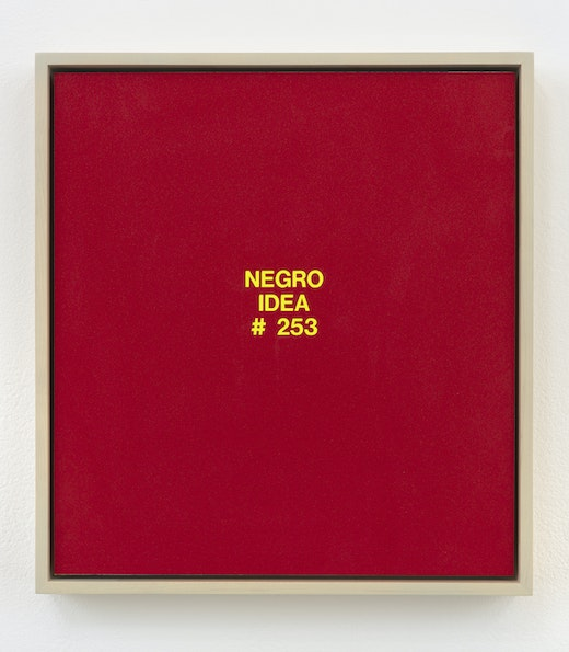 This is an artwork titled Negro Idea #253 by artist Pope.L made in 2003