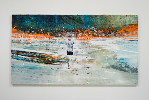 This is an artwork titled The Runner by artist Raffi Kalenderian made in 2016
