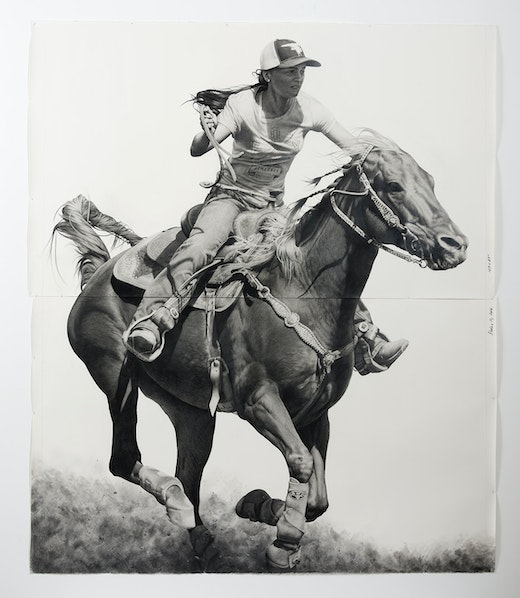 This is an artwork titled Rodeo 10 by artist Karl Haendel made in 2016