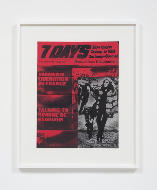This is an artwork titled 7 Days, March, 1972 by artist Mary Kelly made in 2014
