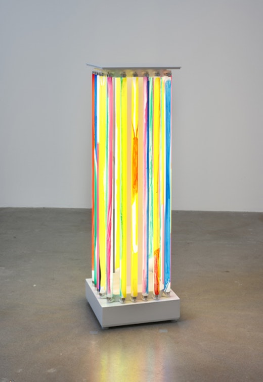This is an artwork titled Luminaire Delirium (Column #2) by artist Yunhee Min made in 2013