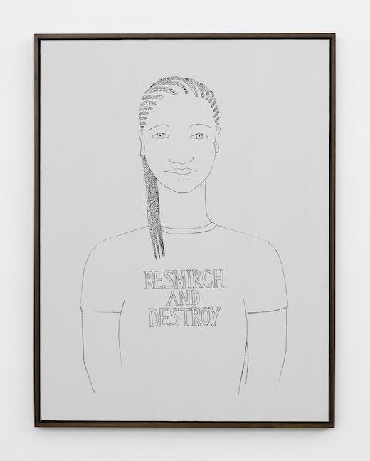 """Stanya Kahn """"Besmirch and Destroy,"""" 2018"""