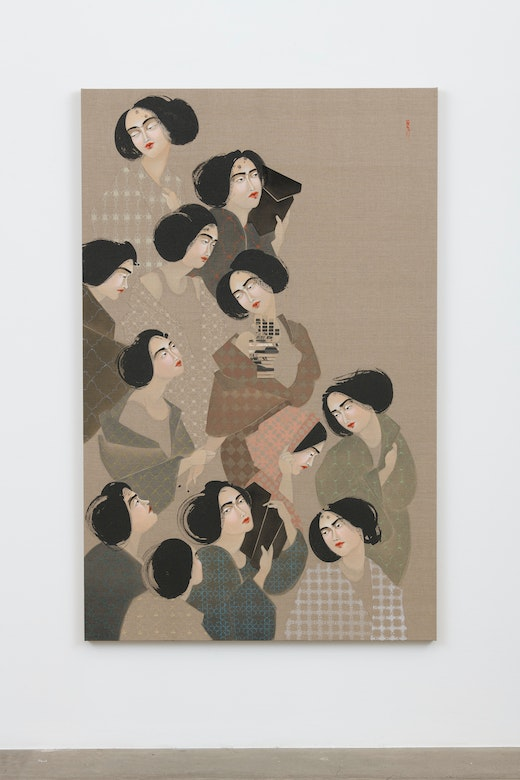This is an artwork titled Bodies #1 by artist Hayv Kahraman made in 2018