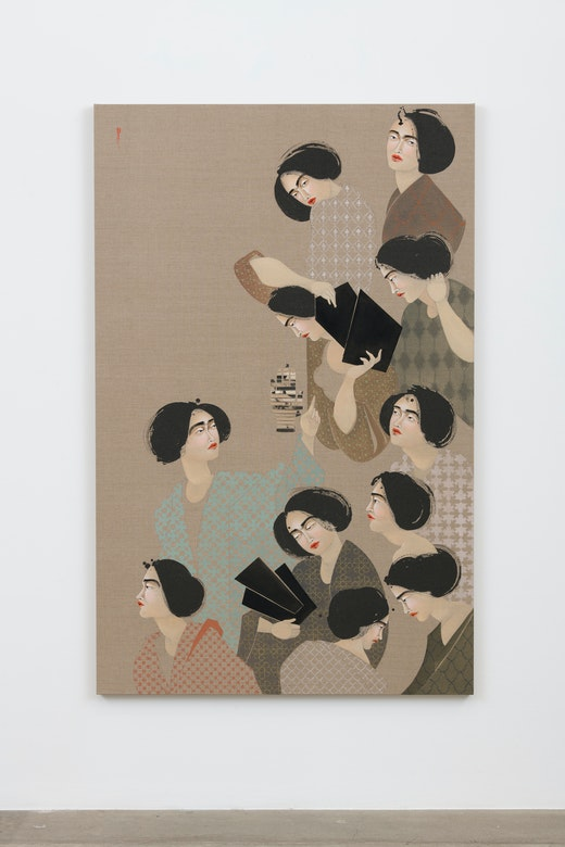 This is an artwork titled Bodies #2 by artist Hayv Kahraman made in 2018