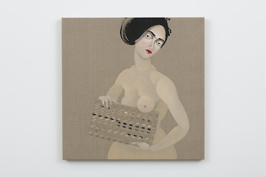 This is an artwork titled The Appeal 14 by artist Hayv Kahraman made in 2018