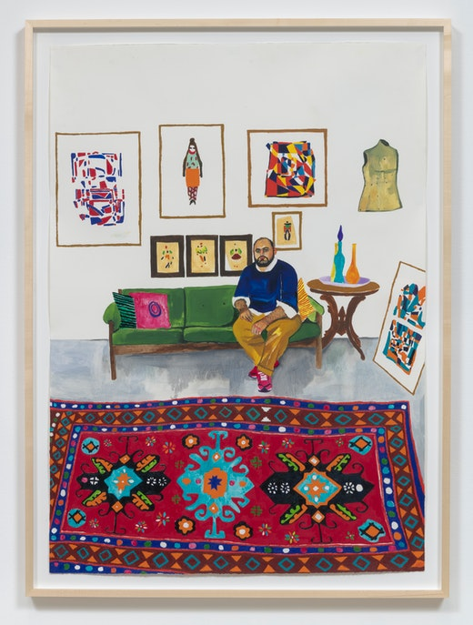 "Raffi Kalenderian ""Hormazd in his London Studio,"" 2019"