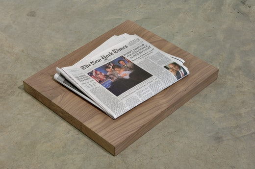 This is an artwork titled Yesterday's Newspaper by artist Dave McKenzie made in 2007