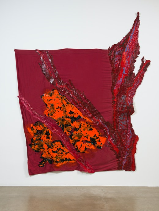 "Rodney McMillian ""nebula; orange,"" 2017"