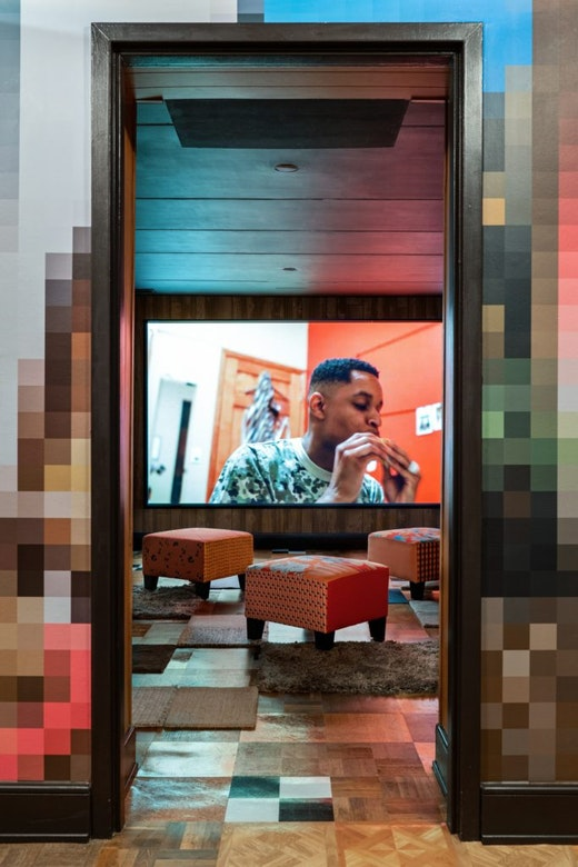 "Mickalene Thomas Installation view ""Mickalene Thomas: Better Nights"" at The Bass Museum (December 1, 2019–September 27, 2020)"