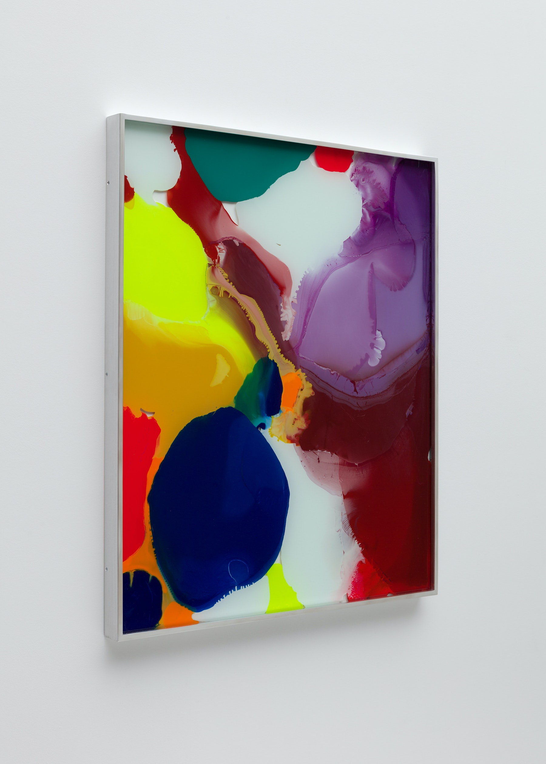"""Yunhee Min """"Up Close in Distance (variation study c2),"""" 2018 Enamel on laminated glass 30.75 x 25.75"""" [HxW] (78.11 x 65.41 cm) Inventory #MIN339 Courtesy of the artist and Vielmetter Los Angeles Photo credit: Brica Wilcox"""