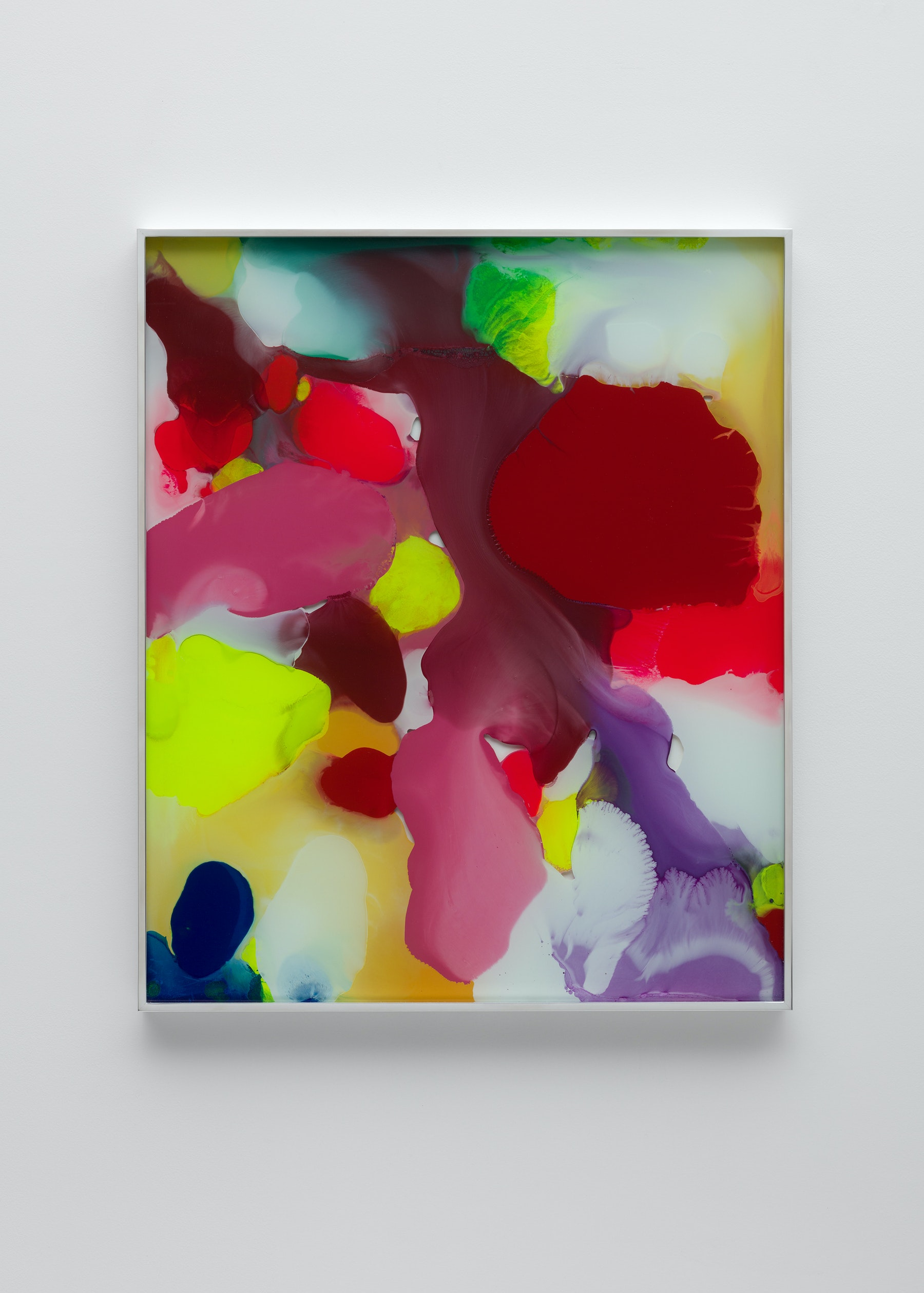 "Yunhee Min ""Up Close in Distance (variation study b2),"" 2018 Enamel on laminated glass 30.5 x 25.5"" [HxW] (77.47 x 64.77 cm) Inventory #MIN340 Courtesy of the artist and Vielmetter Los Angeles Photo credit: Brica Wilcox"