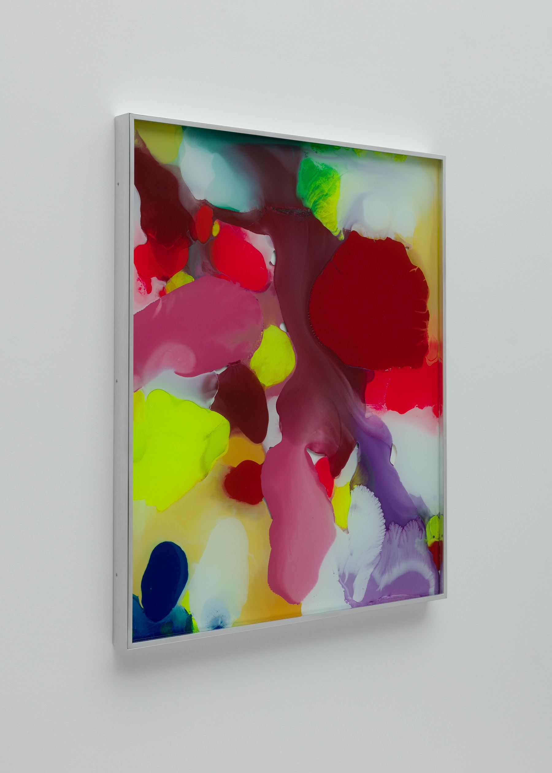 """Yunhee Min """"Up Close in Distance (variation study b2),"""" 2018 Enamel on laminated glass 30.5 x 25.5"""" [HxW] (77.47 x 64.77 cm) Inventory #MIN340 Courtesy of the artist and Vielmetter Los Angeles Photo credit: Brica Wilcox"""