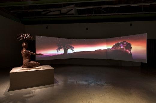 "This is an artwork titled Installation view, ""Wangechi Mutu,"" The Contemporary Austin – Jones Center on Congress Avenue, Austin, Texas by artist Wangechi Mutu made in 2017"