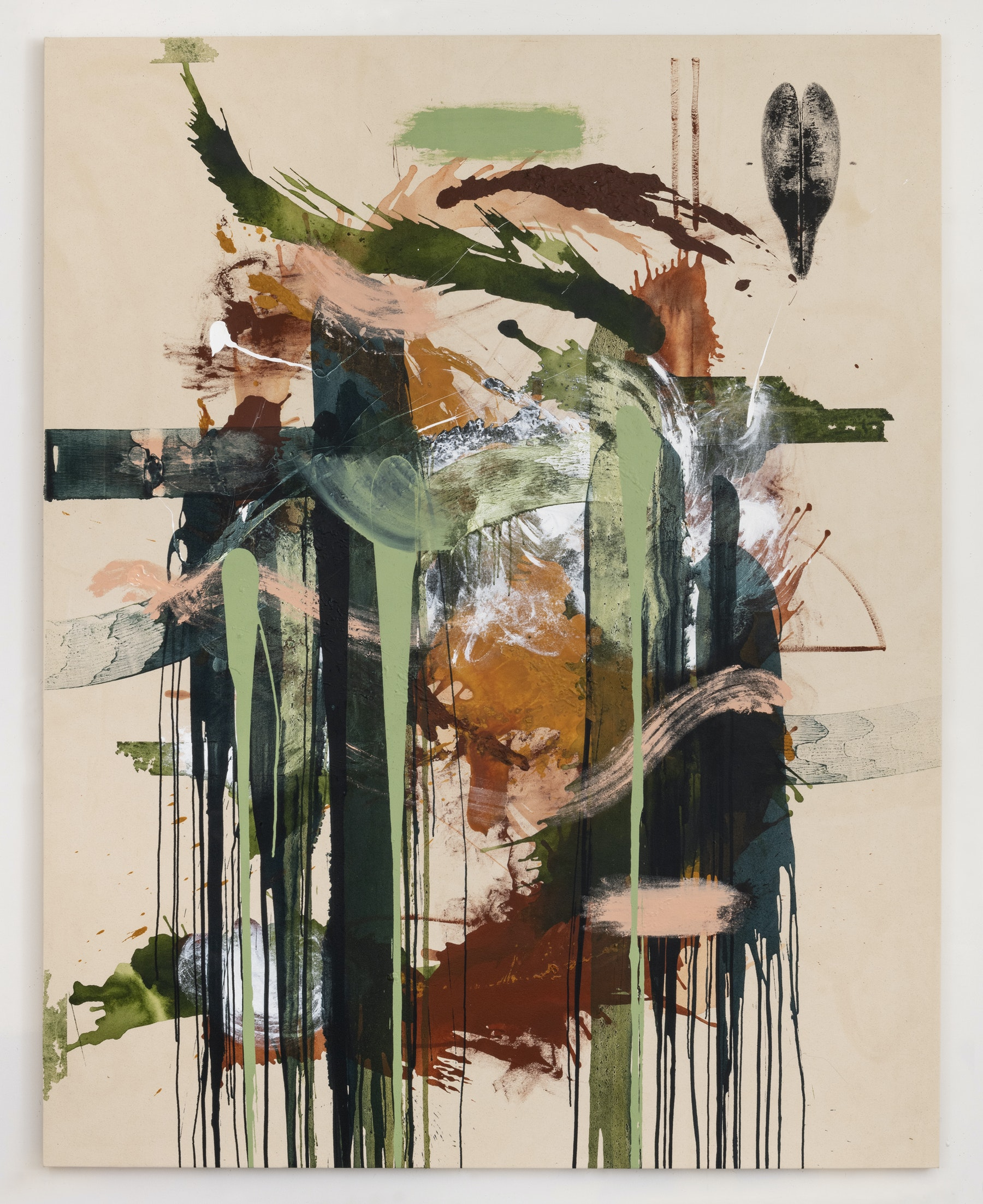 """Elizabeth Neel """"Life in Halves 1,"""" 2019 Acrylic on canvas 97 x 77"""" [HxW] (246.38 x 195.58 cm) Inventory #NEE234 Courtesy of the artist and Vielmetter Los Angeles Photocredit Adam Reich, NY"""