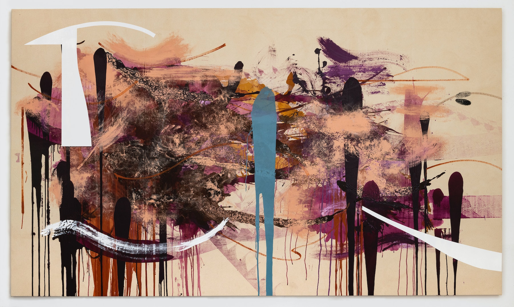 """Elizabeth Neel """"Afterlife,"""" 2019 Acrylic on canvas 76 x 130"""" [HxW] (193.04 x 330.2 cm) Inventory #NEE240 Courtesy of the artist and Vielmetter Los Angeles Photocredit Adam Reich, NY"""