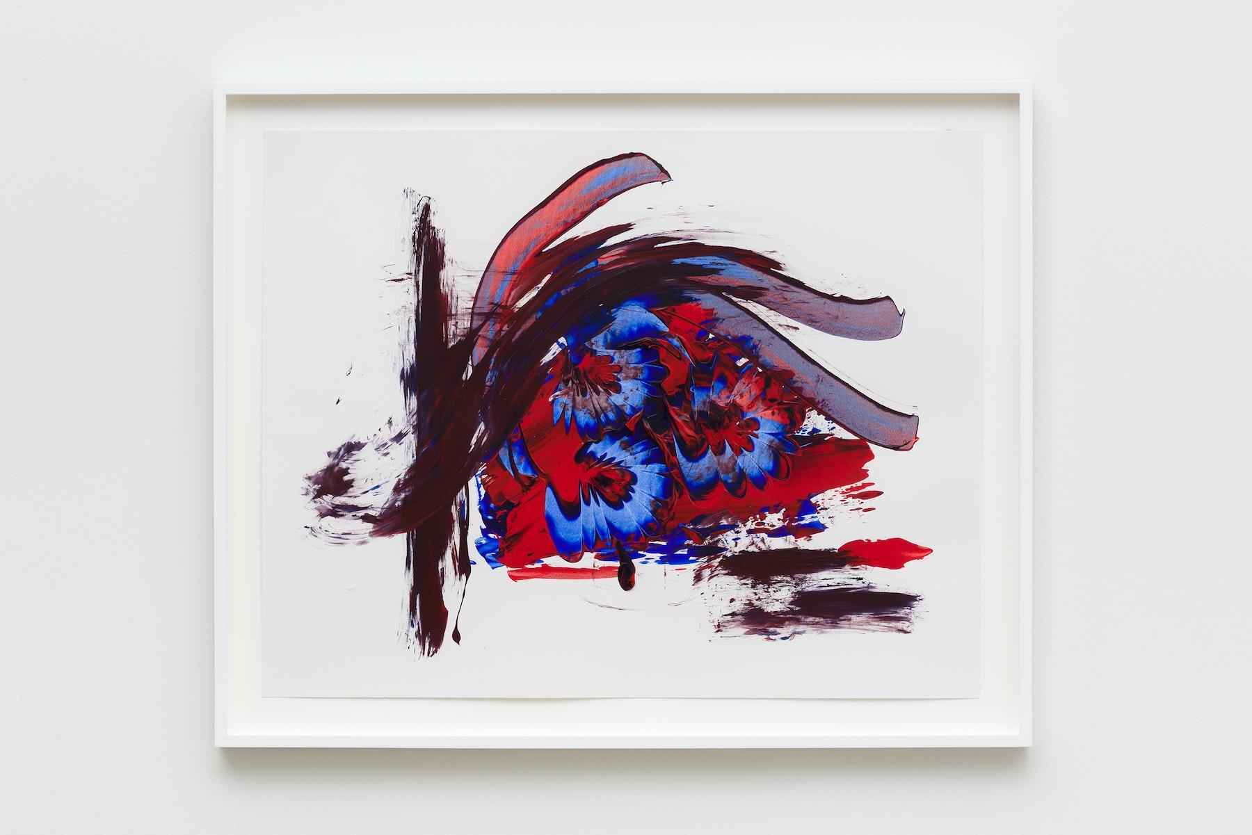 "Elizabeth Neel ""US 21,"" 2019 Acrylic on paper 22.5 x 28.5"" [HxW] (57.15 x 72.39 cm) Inventory #NEE247 Courtesy of the artist and Vielmetter Los Angeles Photo credit: Jeff McLane"