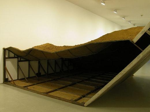 "Ruben Ochoa ""Collapsed (once extracted),"" 2009 12' x 21' x 50'"