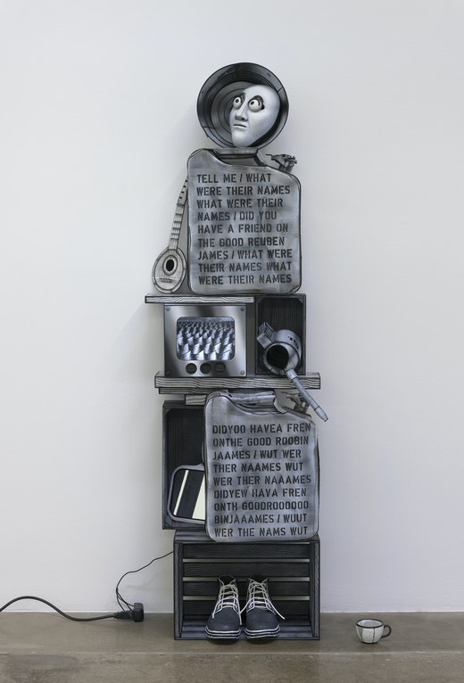 This is an artwork titled Memorial to the USS Reuben James by artist Mary Reid Kelley & Patrick Kelley made in 2018
