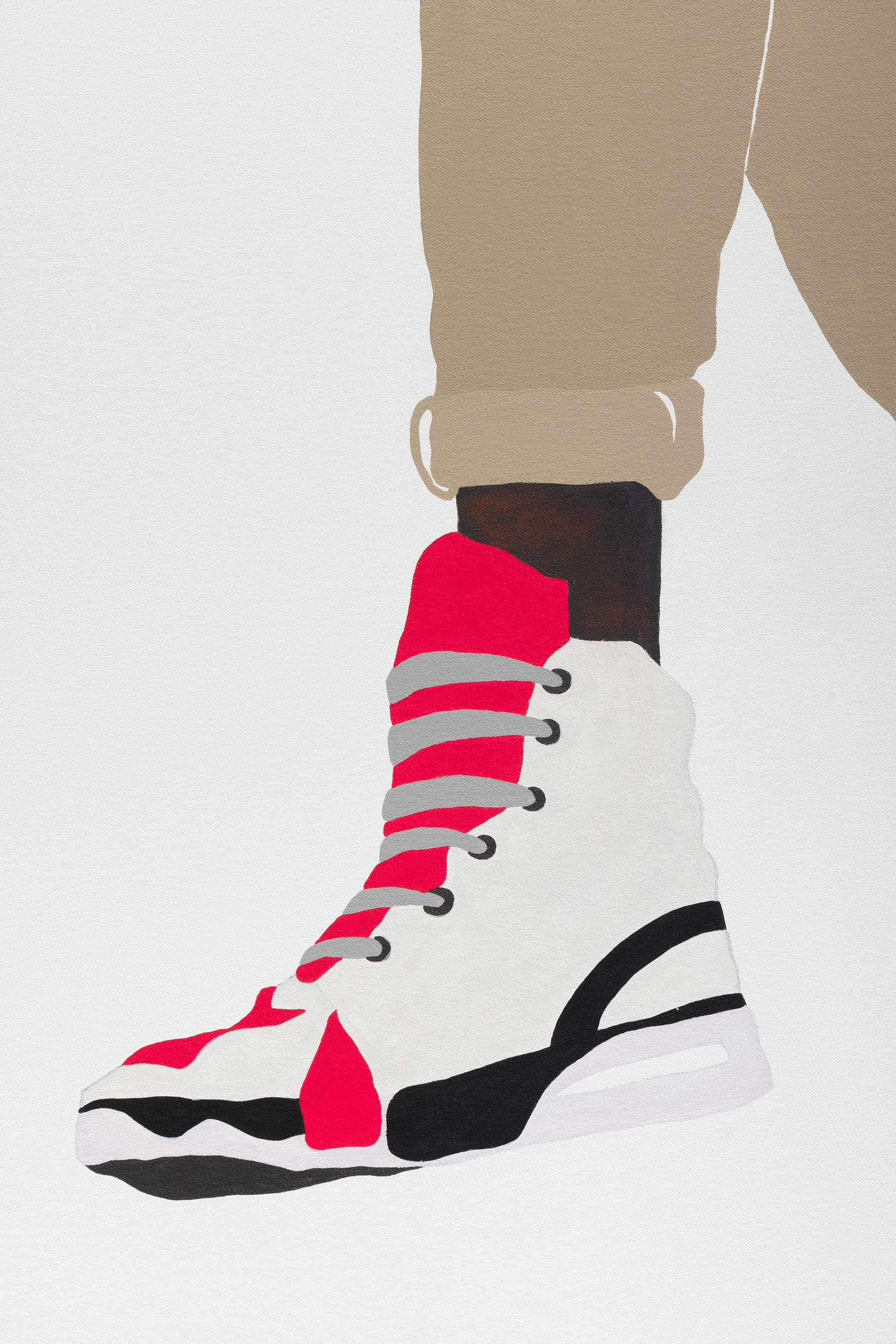 """Deborah Roberts """"Notorious Act: resting,"""" 2021 Mixed media collage on canvas 65"""" x 45"""" [HxW] (165.1 x 114.3 cm); 66 ¹⁄₂"""" x 46 ¹⁄₂"""" x 2 ¹⁄₄"""" [HxWxD] (168.91 x 118.11 x 5.71 cm) framed Inventory #ROB455 Courtesy of the artist and Vielmetter Los Angeles Photo credit: Jeff McLane"""