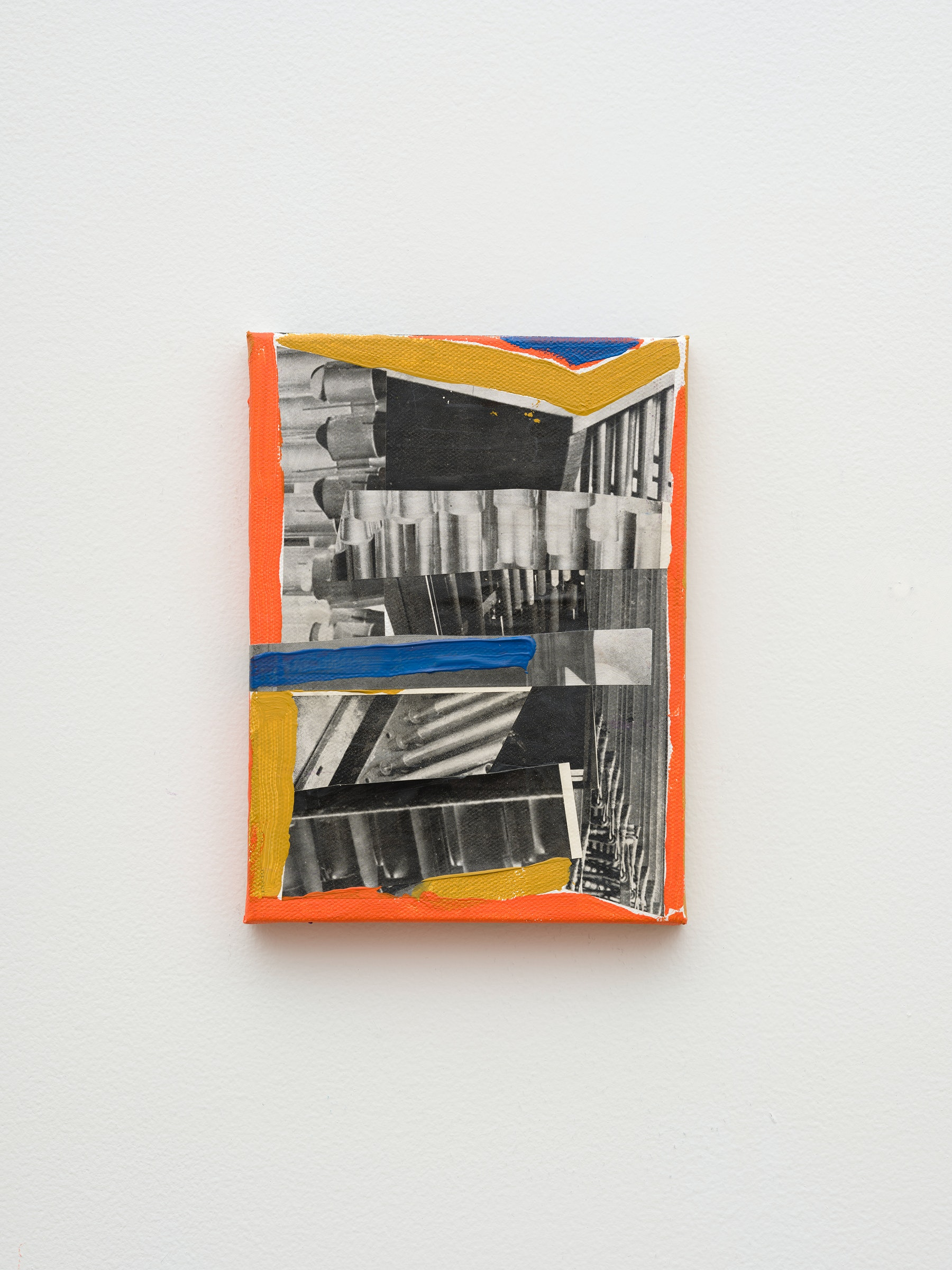 """Steve Roden """"metal,"""" 2020 Mixed media on canvas 8"""" x 6"""" x 1"""" [HxWxD] (20.32 x 15.24 x 2.54 cm) Inventory #ROD689 Courtesy of the artist and Vielmetter Los Angeles Photo credit: Jeff McLane Signed and dated on the back"""