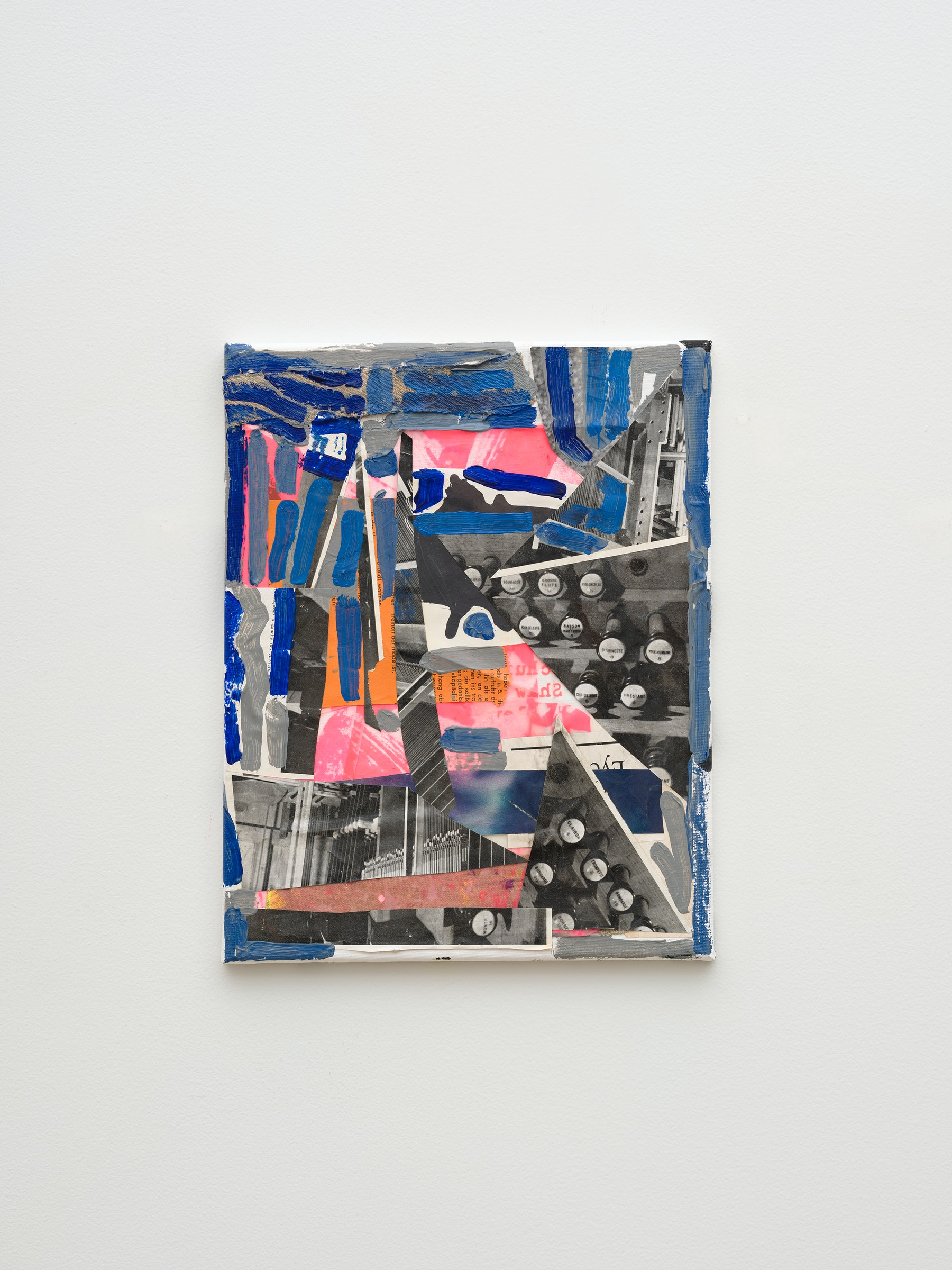 """Steve Roden """"unknown,"""" 2020 Mixed media on canvas 14"""" x 11"""" x 1"""" [HxWxD] (35.56 x 27.94 x 2.54 cm) Inventory #ROD707 Courtesy of the artist and Vielmetter Los Angeles Photo credit: Jeff McLane Signed and dated on the back"""