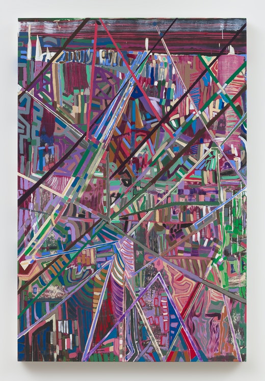 """Steve Roden """"in and in and up and down below (above),"""" 2019"""
