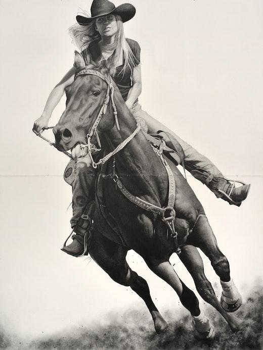 """Karl Haendel """"Rodeo 9,"""" 2017"""
