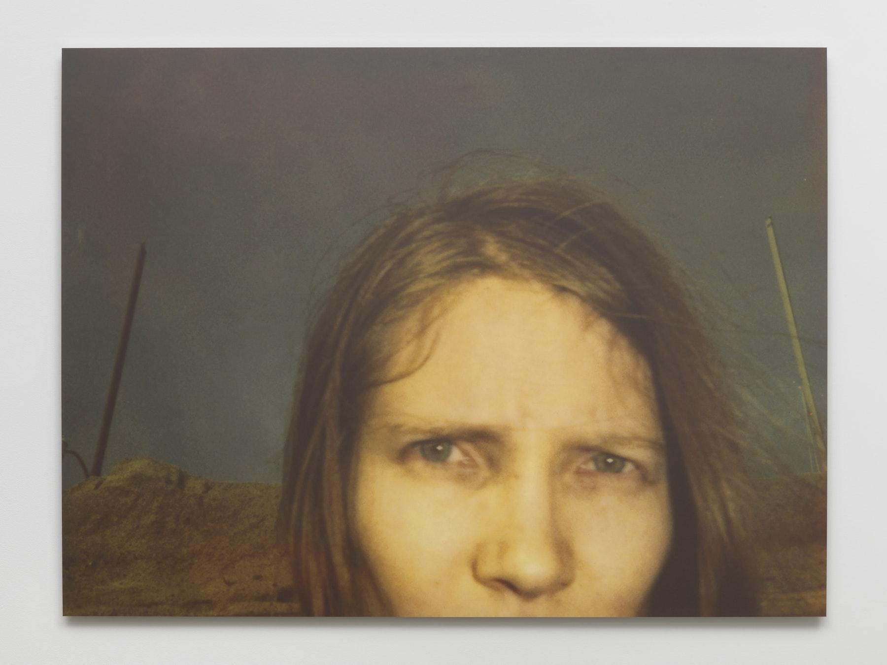 "Stefanie Schneider ""california blue screen (stranger than paradise),"" 1997 / 2020 Digital C-Print, based on a Polaroid 40 x 53.75 x 1"" [HxWxD] (101.6 x 136.52 x 2.54 cm) Edition 1 of 10, 2 AP Inventory #SCH1000.01 Photo credit: Robert Wedemeyer"
