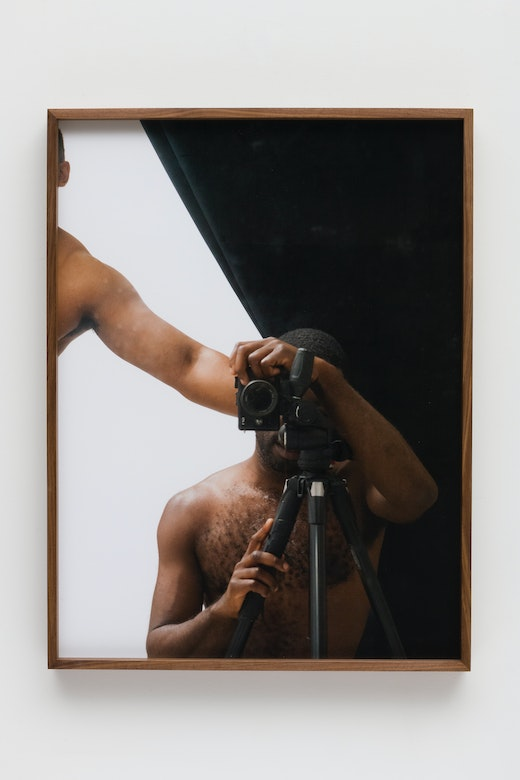 This is an artwork titled Darkroom Mirror (_2160168) by artist Paul Mpagi Sepuya made in 2018