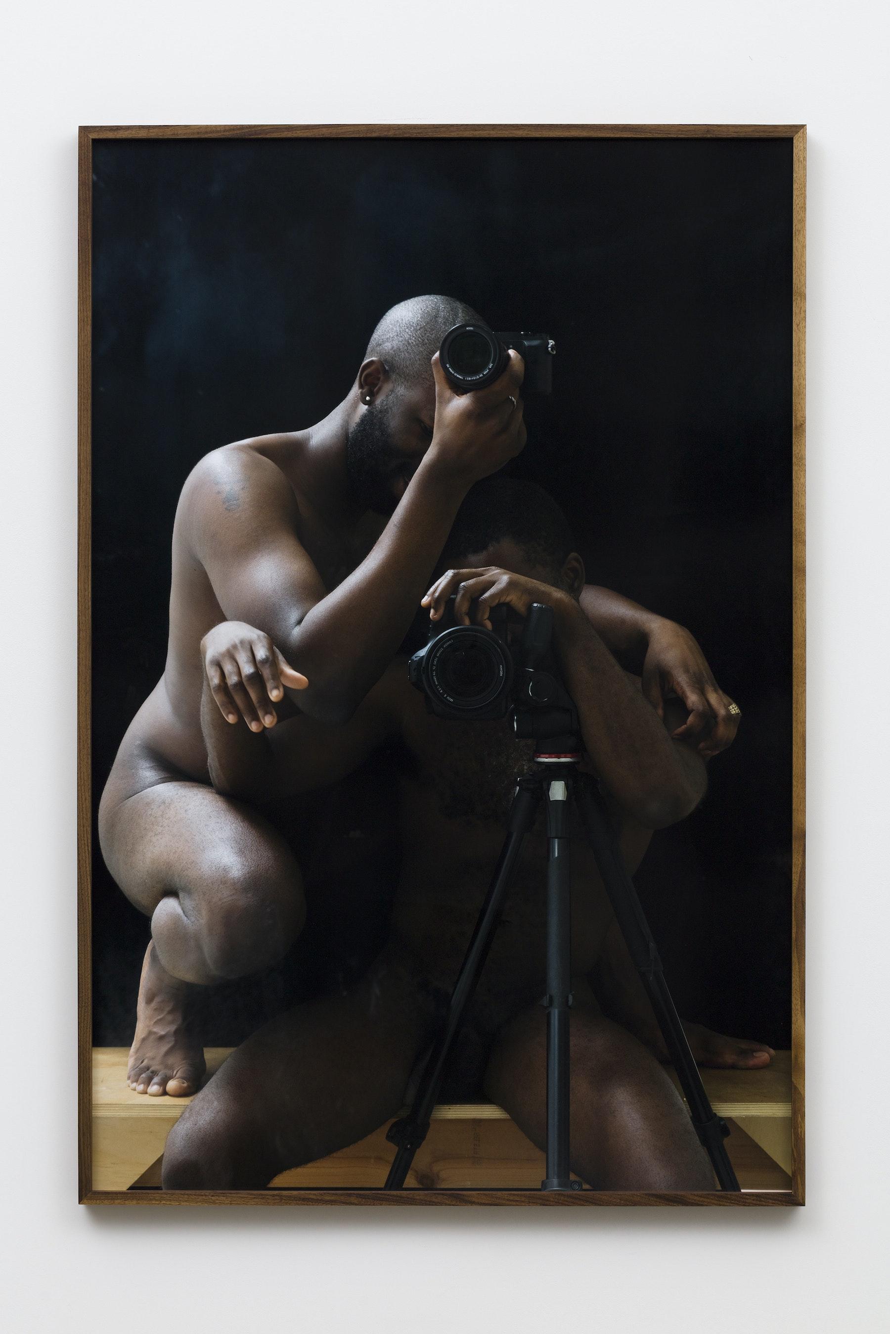 "Paul Mpagi Sepuya ""Darkroom Mirror (0X5A0721),"" 2019 Archival pigment print 60 x 40"" [HxW] (152.4 x 101.6 cm) Edition of 5, 2 AP Inventory #SEP649 Courtesy of the artist and Vielmetter Los Angeles Photo credit: Jeff McLane"