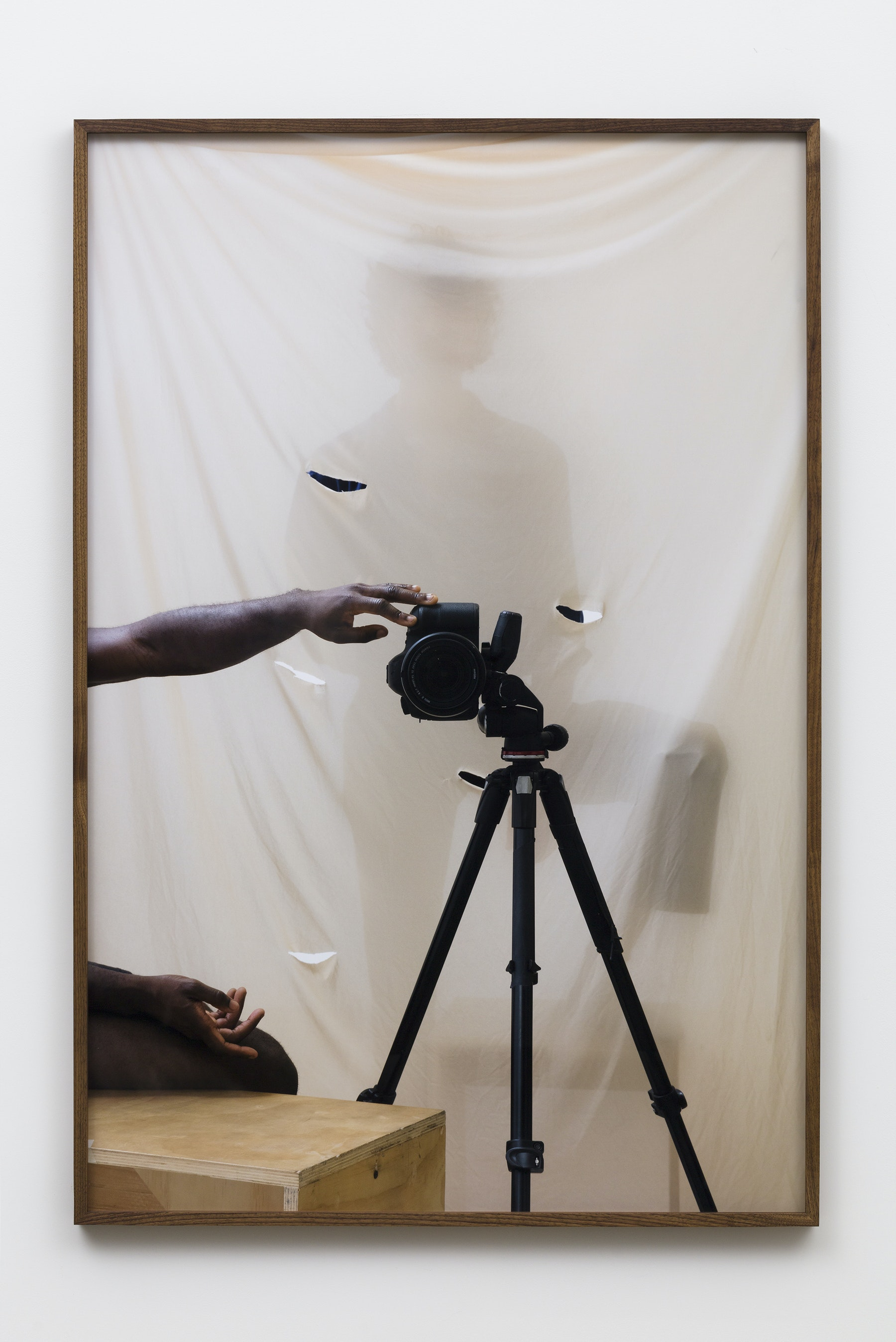 """Paul Mpagi Sepuya """"Screen (0X5A8295),"""" 2019 Archival pigment print 60 x 40"""" [HxW] (152.4 x 101.6 cm) Edition of 5, 2 AP Inventory #SEP654 Courtesy of the artist and Vielmetter Los Angeles Photo credit: Jeff McLane"""