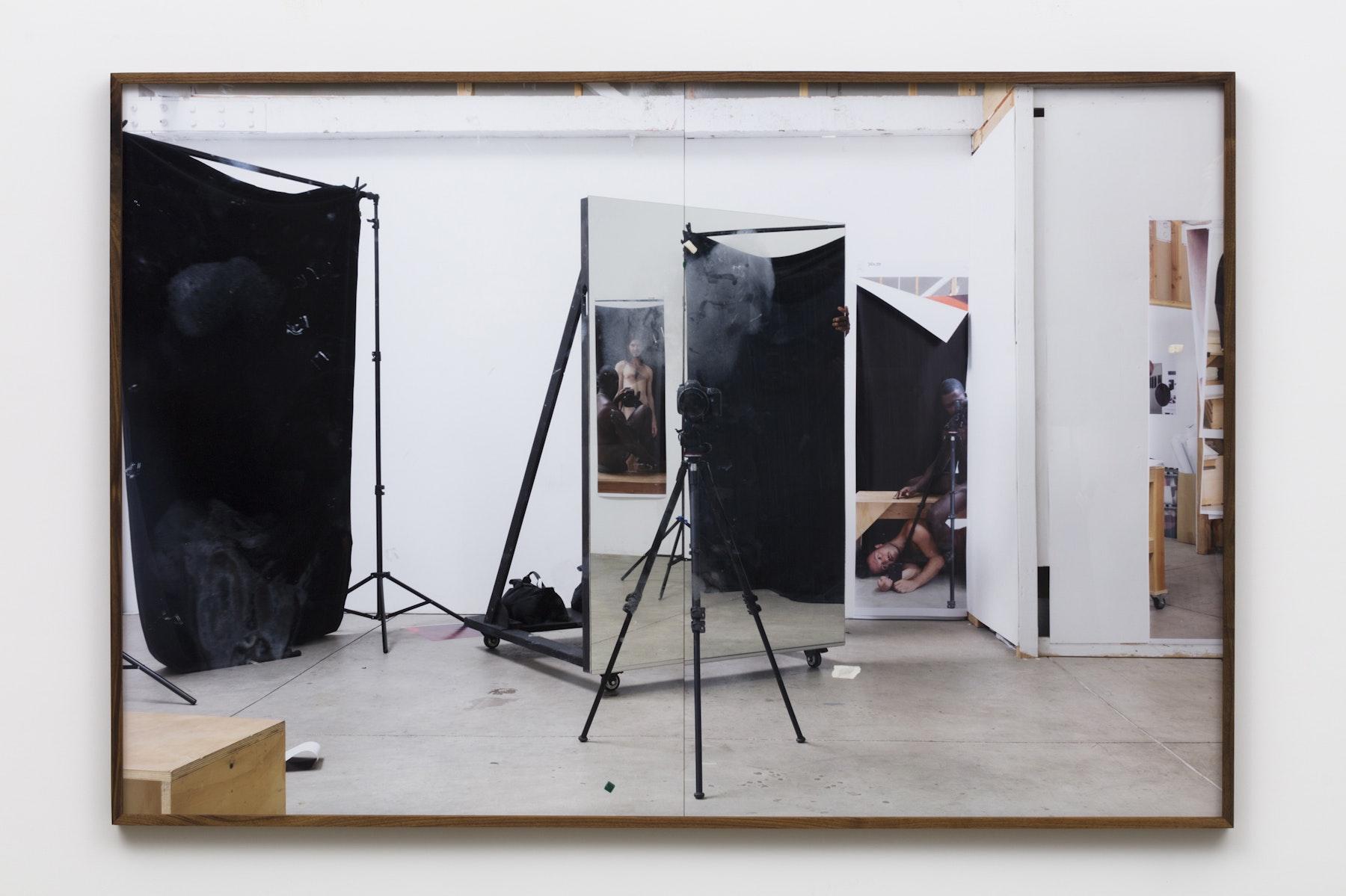 "Paul Mpagi Sepuya ""Studio (0X5A5038),"" 2020 Archival pigment print 50 x 75"" [HxW] (127 x 190.5 cm) Edition of 5, 2 AP Inventory #SEP664 Courtesy of the artist and Vielmetter Los Angeles Photo credit: Jeff McLane"