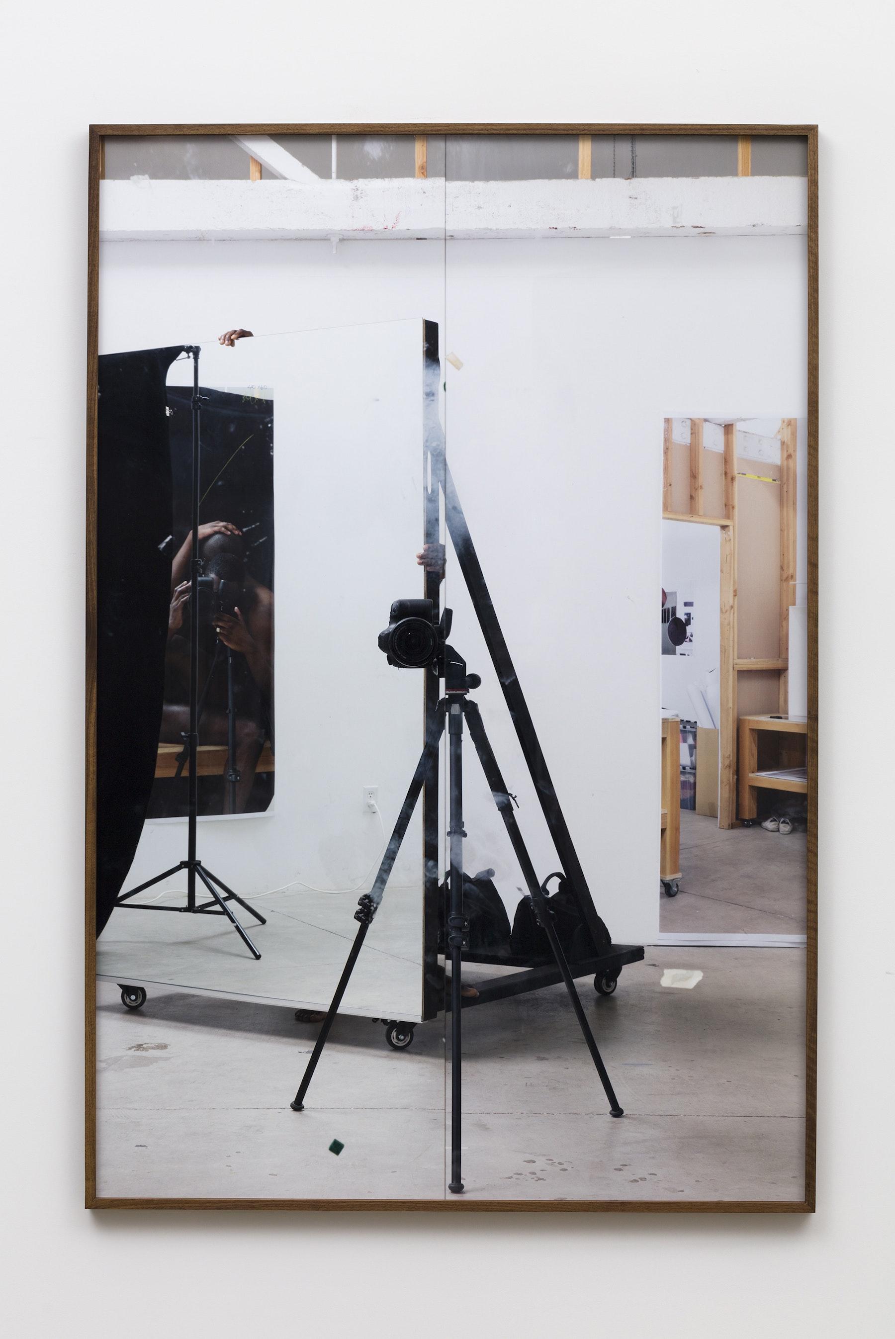 "Paul Mpagi Sepuya ""Studio (0X5A5051),"" 2020 Archival pigment print 75 x 50"" [HxW] (190.5 x 127 cm) Edition of 5, 2 AP Inventory #SEP665 Courtesy of the artist and Vielmetter Los Angeles Photo credit: Jeff McLane"