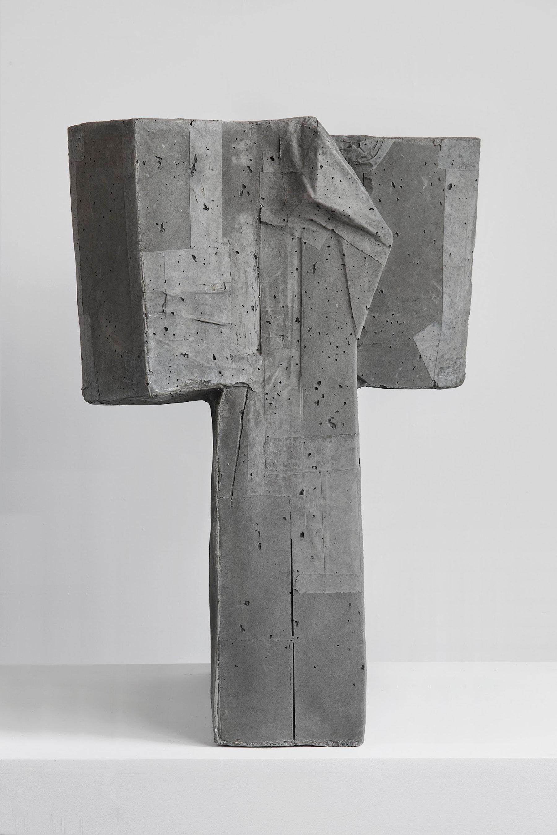 "Arlene Shechet ""Twins,"" 2019 Concrete 33.25 x 18 x 12.5"" [HxWxD] (84.45 x 45.72 x 31.75 cm) each sculpture Inventory #SHE146 Courtesy of the artist and Vielmetter Los Angeles. © Arlene Shechet Photo credit: Robert Wedemeyer"