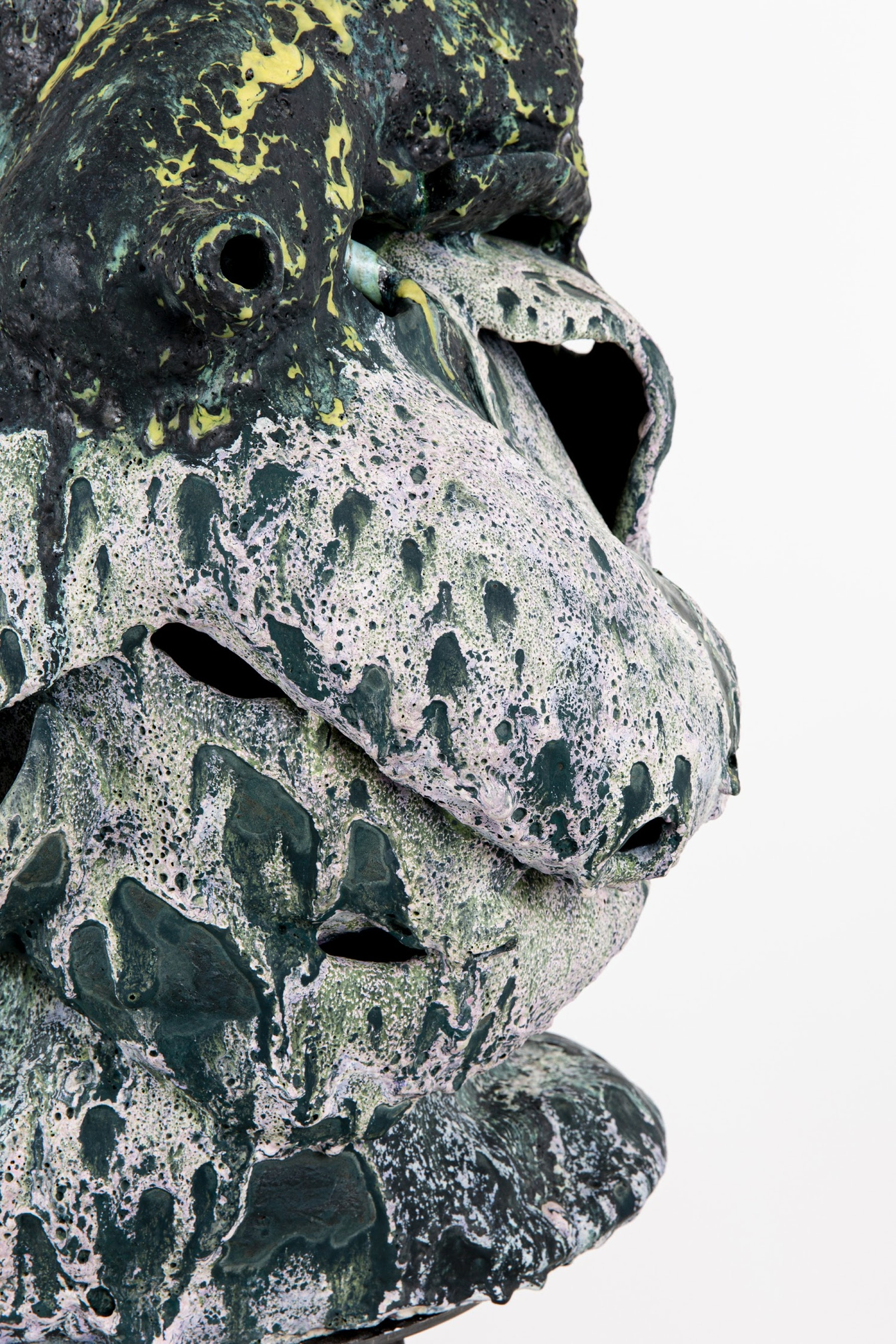 "Arlene Shechet ""Ganesha is a Mountain,"" 2020 Glazed ceramic, powder coated steel 68 x 21 x 19"" [HxWxD] (172.72 x 53.34 x 48.26 cm) Inventory #SHE161 Courtesy of the artist and Vielmetter Los Angeles. © Arlene Shechet Photo credit: Eva Deitch"