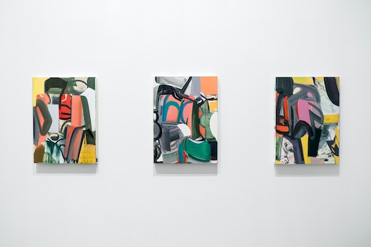 """Amy Sillman Installation view, """"Inherent Structure,"""" Wexner Center for the Arts (May 19–August 12, 2018)"""